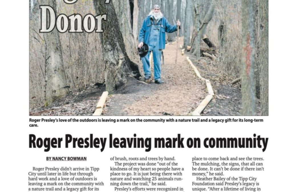 Legacy Donor | Roger Presley Leaving Mark on Community