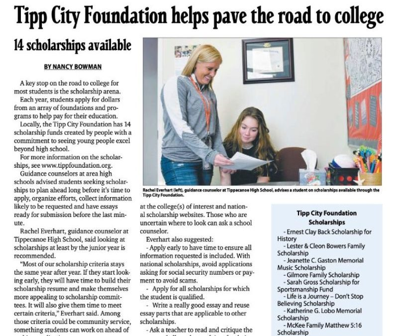 Tipp Foundation helps pave the road to college | Tipp City Foundation